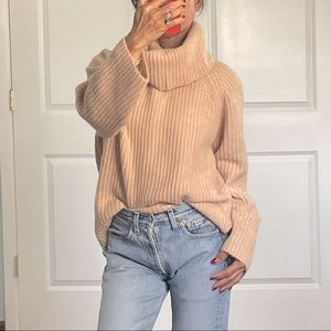 J Crew Point Sur Cowl Neck Chunky Slouchy Sweater